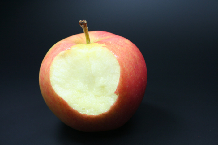 Biss in den Apfel